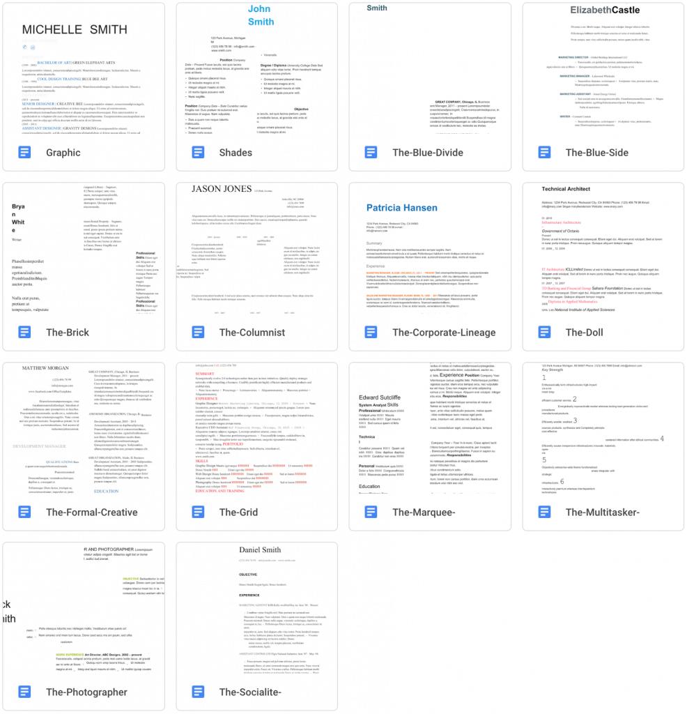 Creative Resume Template Downloads